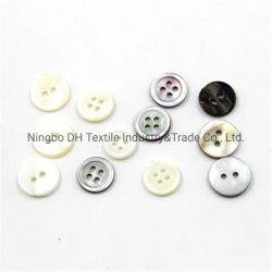 Los agujeros de alta calidad de 2 o 4 agujeros del botón de Shell para prendas de vestir