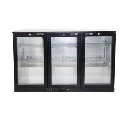 Porta vetro vino bevande Cooler 3 porte Commercial Bar Frigo Raffreddatore per esposizione birra