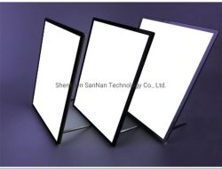 Tisch-super dünner Milch-Tee-System-Stab-heller Spitzenkasten des ausgeglichenen Glas-A4