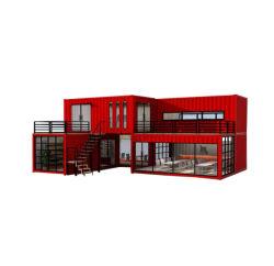 Two-Story 20/40ft Prefab Modular de luxo moderno de aço Portable Luxury Villa prefabricados Prédio da Casa de contentores