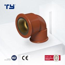 Krümmer-Messing pp. verlegte Rohrfitting-Plastikrohr für Wasser-Rohrleitung-Preisliste