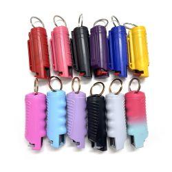 Caso baratos Mace Bling pintalabios Mayorista de Productos Mini Spray de Pimienta Keychain para pistola de autodefensa de la mujer 20ml Kit en latas de granel bolsa de plástico titular de Shell para la venta