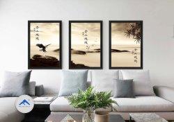 고전적인 중국 스타일의 잉크 페인팅 벽 아트 장식 그림