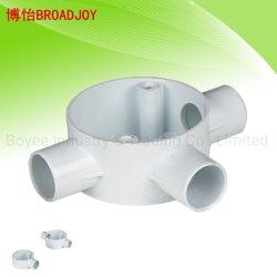 20mm e 25mm acessórios de tubagem de plástico de PVC em linha reta para as conexões do tubo em T