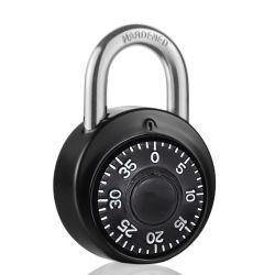 Xmm-8056 Alta Segurança liga de zinco cadeado de senha de disco de metal trava de combinação com 50 mm de diâmetro