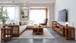 Los bienes muebles de madera Muebles de hogar Diseño simple Salón TV Stand