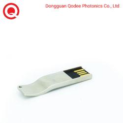 محرك أقراص USB 2.0 محمول مصمم بشكل كلاسيكي سعة 64 جيجابايت مزود بحبل معدني للشعارات المخصصة والألوان التي تبلغ 6 ميجابايت/ثانية، على شكل S