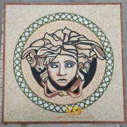 Villa Casa de Banho Decoração de parede a parede do mosaico em mármore Arte do Mosaico Versace/Padrão/pintura mural