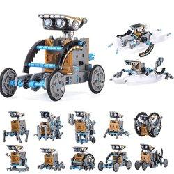 Solar Robot Toys ساق 12 في 1 DIY Grey Color Building Education مجموعة تجارب العلوم للأطفال