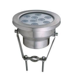 Piscina a LED con acqua salata e barca da incasso da 9 W.