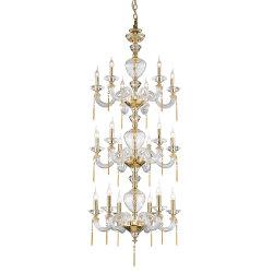 Maison décor projet bon marché Home Crystal fer morceau lumière LED Lampe à suspendre courte en acrylique verre chandelier moderne rotatif