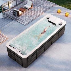 6m 8m спа купаться акриловый над землей бесконечные акриловые джакузи и сад и открытый контейнер для воды есть Inground рамы над землей горячие ванны бассейн цена