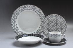 台所はヨーロッパのレストランの食事用食器セット16PCSの陶磁器テーブルウェアを倉庫に入れる