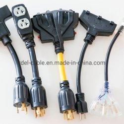 三重の蛇口5-20rのアダプター頑丈なStwへのNEMAの電源コードL14-30p