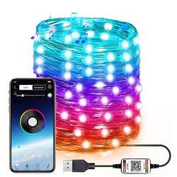 LED ضوء سلك نحاسي ضوء USB مصابيح ملونة صغيرة حفل زفاف عيد الميلاد الضوء خيط غرفة مبتكرة الديكور أضواء
