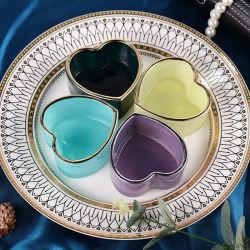 نورديك جلاس ملون قلبه على شكل حلوى جص مجوهرات عناصر ديكور منزلى مبتكرة فى متناول اليد