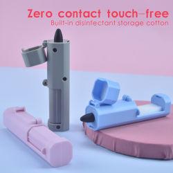 Herramientas de contacto cero evite tocar los botones de elevador de empuñaduras de puerta del cajón público Manejar los gadgets, Mini Self-Cleaning manejar herramientas reutilizables.