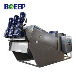 Ce/ISO/SGS Abwasserbehandlung-kleine Drehplatten-spiralförmige Schrauben-Filterpresse-Klärschlamm-Dehydratisierung