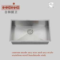 Raio Zero Handemade pia de cozinha de aço inoxidável com Cupc