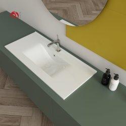 Junyi Lavatório Cerâmica fábrica de cerâmica de mesa Borda Fina Lavatório Padrão Europeu Hotel pia do banheiro