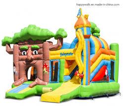 Multiplay 5.4*5*4m PVC insufláveis dos contos de fadas castelo insuflável deslize de gavetas para crianças