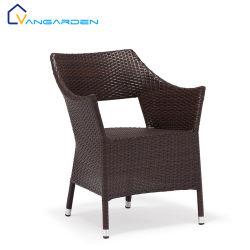 Usine Direct empilable moderne Métal en plastique en rotin Salon de jardin Chaise de salle à manger en plein air