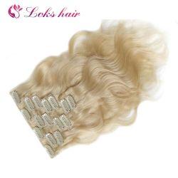 Gerade nahtlose Remy Raw Indian 4b 4c Blonde natürliche Jungfrau Menschliche Haarspange in Erweiterungen
