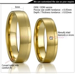 Venda por grosso de inspiração de Design Personalizado de jóias cobre os anéis de banda