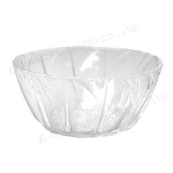 En relief Le mélange de salade de fruits de verre bol bol en verre