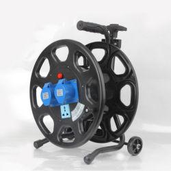 Стандартный разъем малых 220V пластиковый складной удлинительный шнур питания кабель мотовила