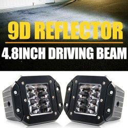 LED カーフォグライト自動車用 LED 作業灯、 9d リフレクタ IP68 24 W 3 インチミニ LED ドライビングライト
