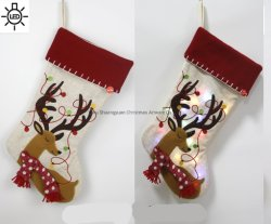 La decorazione di natale fornisce la calza lunga di natale degli stock del Babbo Natale