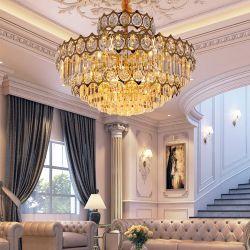 حديثة [نورديك] فندق مشروع [لد] رف بلّوريّة ثريا نوع ذهب مدلّاة ضوء
