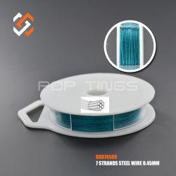 7 fils en acier inoxydable Tiger Cordon d'Artisanat de queue de filets sur le fil GX074509 pour la fabrication de bijoux