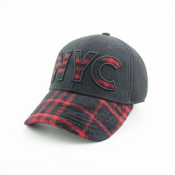 Boné de lã com Applique bordados e malha de forma calorosa Sports Hat para o Inverno
