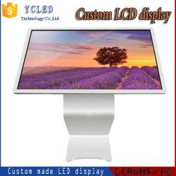 55 pollici tutto in un'affissione a cristalli liquidi che fa pubblicità allo schermo dell'affissione a cristalli liquidi di sostegno 4K della macchina con l'ingresso/uscita di tocco +WiFi+HDMI//AV di 3840*2160 +IR, input del VGA
