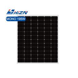 Hizn 200W 단결정 태양 전지판 195W 185W 190W 205W 210W 공장 가격이 포함된 모노 모듈
