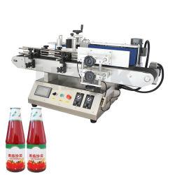 Tecla Semi-Auto Hzpk aplicador de rotulagem autocolante de impressão da máquina para Frascos redondos
