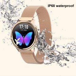 New Fashion Lady IP68 رسالة مقاومة للماء تذكير ذكي Women ساعات معصم ساعة ذكية