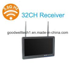 شاشة لاسلكية مزدوجة 32 قناة 5.8GHz 10.1 بوصة