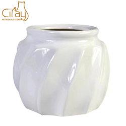 Diseño especial Cristal blanco brillante de la sembradora de cerámica grande