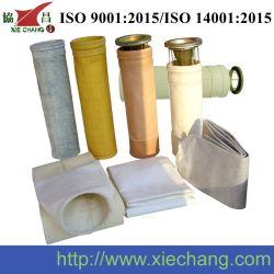 Filterbeutel aus hochtemperaturbeständigem Gewebe oder Vliesstoff aus Fiberglas