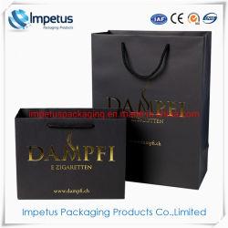 Mode d'emballage cadeau imprimé de Shopping personnalisé sac sacs papier mat avec logo d'estampillage