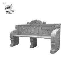 Hand Geschnitzt Marmor Carving Outdoor Stein Bank Dekoration Mbg-18