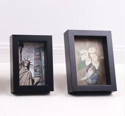 3D da estrutura da caixa de sombra de madeira Combind Moldura Fotográfica decorativas
