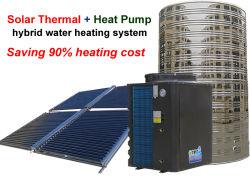 A energia solar térmica e bomba de calor de fonte de ar do sistema de aquecimento do aquecedor de água Híbrido Commericial para aplicações como a escola etc