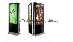 Dedi 65 pulgadas LCD para exteriores dobles caras carteles de señalización digital dinámica