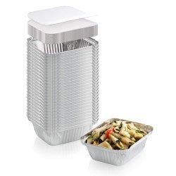 مستهلكة ألومنيوم مستطيل شكل رقيقة معدنيّة يغطّي حوض طبيعيّ مع غطاء طعام تخزين