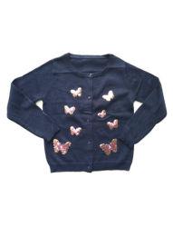 蝶刺繍が付いている編まれた子供の子供の女の子のセーター