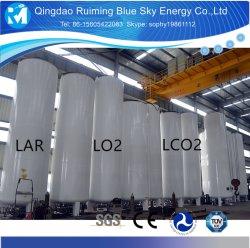 ASME Lar/Lin/Lox/LNG/LCO2 tanque de armazenamento criogénico
